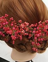 Vrouwen Licht Metaal / Acryl Helm-Bruiloft / Speciale gelegenheden / Informeel Bloemen / Haarspeld 2-delig