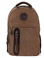 Men Canvas Casual Backpack Brown