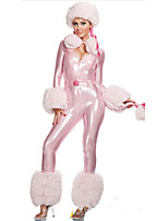 Cosplay Costumes Animal Movie Cosplay Pink Solid Leotard/Onesie / Hat Halloween / Oktoberfest Female Patent Leather