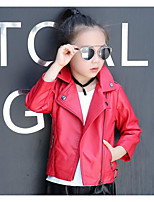 Girl's Casual/Daily Solid Suit & BlazerPU Spring / Fall Black / Red