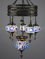 BOXIMIYA Mediterranean Dining-Room Creative Restoring Ancient Ways Wrought Iron Rural Art Droplight Sitting Room