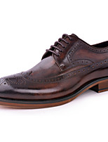 Men's Oxfords Comfort Leather Wedding/Outdoo/Office&Career/Party&Evening/Casual Flat Heel