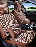 Summer Breathable Ice Silk Car Cushion Four Seasons General Ice Silk Stitching Leather Upholstery