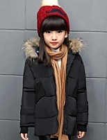 Girl's Casual/Daily Solid Down & Cotton PaddedPolyester Winter Black / Pink / Red
