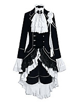 Inspired by Black Butler Ciel Phantomhive Anime Cosplay Costumes Cosplay Suits Color Block / Patchwork White / Black Long SleeveVest /