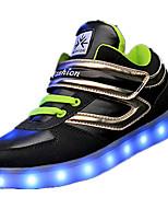 Jungen-Sneaker-Lässig-Stoff-Flacher Absatz-Komfort-Schwarz / Rot