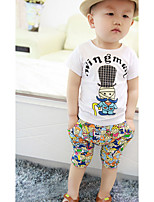 Boy's Casual/Daily Print Clothing SetCotton Summer Gray