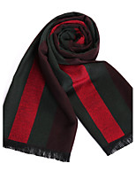 Men's Wool Blend Scarf Work / Casual / Calassic Scarf for Winter Nature and Warm with Wine Color