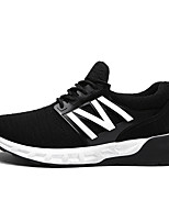 Men's Sneakers Spring / Fall Comfort PU Casual Flat Heel Lace-up Black / Red / White Sneaker