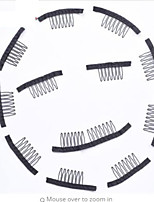 Comb Clips and 20 pcs lot Snap Clips For Wig Caps Convenient For Wig and Ponytail Hair Extensions Making