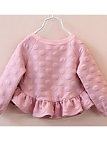 Girl's Going out Polka Dot Dress / ShirtCotton Spring / Fall Pink