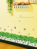 Botánico / De moda / Florales Pegatinas de pared Calcomanías de Aviones para Pared Calcomanías Decorativas de Pared,PVC Material Removible