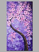 Handgemalte Abstrakt / Blumenmuster/Botanisch Ölgemälde,Modern / Europäischer Stil Ein Panel Leinwand Hang-Ölgemälde For Haus Dekoration