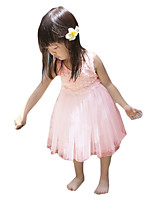 Girl's Casual/Daily Solid DressOthers Summer Pink / White