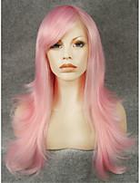 imstyle22''cosplay розовый естественная прямая машина не кружевные парики из синтетических термостойкие волокна