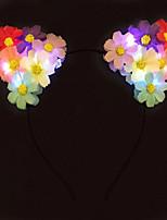 febre luz até orelhas de gato headband da flor levou faixa de cabeça daisy dia das bruxas giftchristmas ideia do presente da festa de