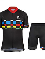Sports Cycling Jersey with Shorts Men's Short SleeveBreathable  Quick Dry  Anatomic Design  Ultraviolet Resistant