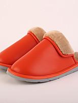 M.livelihood.H Women's Slippers & Flip-Flops Winter Slingback Cowhide Casual Flat Heel Others Orange Others-LB2016023