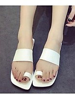 Women's Sandals Summer Comfort PU Casual Flat Heel Others Black / White Others