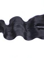 3.5x4 Fermeture Ondulation naturelle Cheveux humains Fermeture Brun roux Dentelle Suisse 60 gramme Moyenne Cap Taille