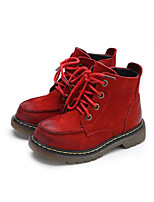 Boy's Boots Comfort Leather Casual Black Brown Red Coffee