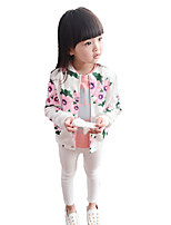 Girl's Casual/Daily Print Suit & BlazerPolyester Spring / Fall Black / White