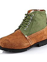 Men's Boots Winter Comfort Suede Casual Flat Heel Lace-up Brown Others