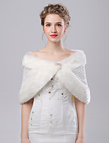 Women's Wrap Capelets Faux Fur / Imitation Cashmere Wedding / Party/Evening Pattern / Rhinestone