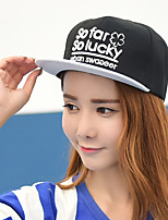 Unisex Summer Clover embroidery alphabet Printing Stitching color flat brim  baseball cap