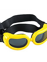 Yellow Pet Puppy Dog Eye UV Protection Goggles Sunglasses Eyewear S