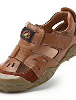 Unisex Sandals Spring / Summer / Fall Comfort Nappa Leather Athletic / Casual Flat Heel Black / Brown Upstream shoes