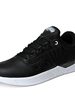 Men's Athletic Shoes Spring Summer Fall Winter Comfort PU Outdoor Casual Athletic Lace-up White Black Black/White Walking