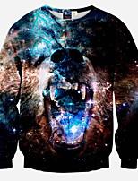 Sweatshirt Homme Décontracté / Quotidien Actif simple Punk & Gothique 3D Print Col Arrondi Micro-élastique Polyester Manches Longues