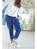 Girl's Casual/Daily Solid PantsCotton Winter / Spring / Fall Blue