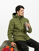 Hiking Softshell Jacket Unisex Waterproof / Breathable / Thermal / Warm / Windproof / Wearable  /  TeryleneRed / Gray
