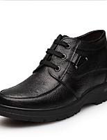 Черный Коричневый-Мужской-Повседневный-Дерматин-На плоской подошве-Удобная обувь-Ботинки