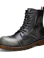 Men's Fashion Boots Fashion Martin Shoes Casual High Top Retre Shoes Flat Heel Lace-up Walking EU38-42