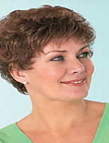 Short Curly Wave Auburn Color Synthetic Wigs for Women