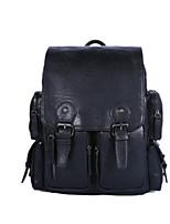 Men PU Casual Laptop Bag Brown / Black