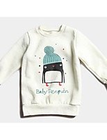 Baby Casual/Daily Print Blouse-Cotton-Winter / Spring / Fall-White