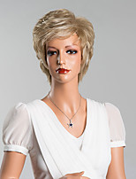 Elegant Natural Wave Short Capless Wigs Top Quality Human Hair Mixed Color