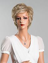 элегантный естественная волна короткая монолитным парики человеческих волос верхнего качества смешанный цвет