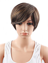 Short Auburn Color Synthetic Wigs for Women