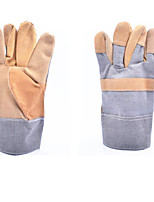 Short Section Leather Electric Welding Welding Wearable Protection Gloves   3 Pairs Packaged for Sale
