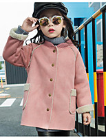 Girl's Casual/Daily Solid Suit & BlazerCotton Winter Brown / Pink