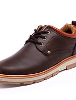 Femme-Décontracté-Noir / Marron / Jaune-Talon Plat-Confort-Sneakers-Cuir