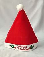 High-grade Christmas Hat Adult Christmas Party Cap Red Plush Hat For Santa Claus Costume Christmas Decoration Gift