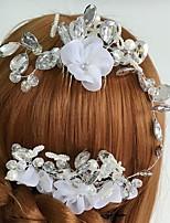 Vrouwen Tule / Licht Metaal / Acryl Helm-Bruiloft / Speciale gelegenheden / Informeel Haarkammen / Bloemen 1 Stuk