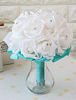 Bouquets de Noiva Redondo Rosas Buquês Casamento Festa / noite Cetim Espuma 7.87