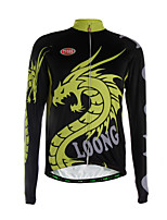 Sports Cycling Jersey Men's Long Sleeve Thermal / Quick Dry / Front Zipper / Back Pocket / Ultra Light Fabric Bike